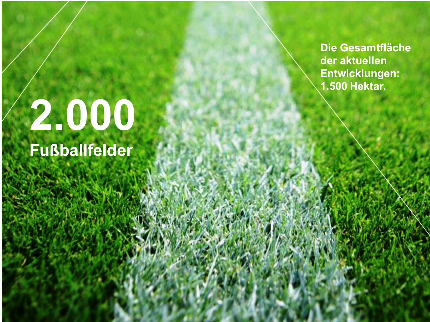 Eine Flache Von 2 000 Fussballfeldern In Der Entwicklung